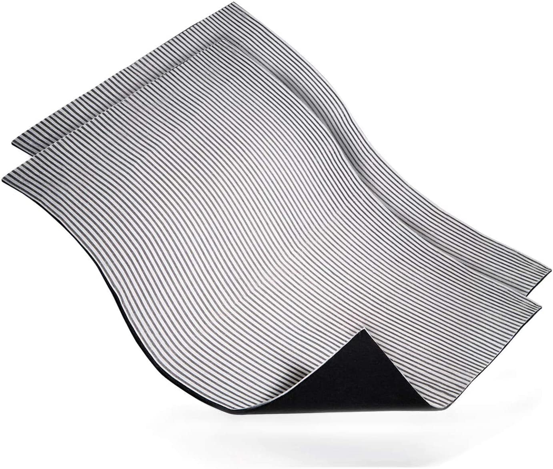 HEYNNA® Juego de 2 filtros universales para campana extractora 2 en 1, filtro de carbón activo + filtro de grasa | 57 x 47 cm