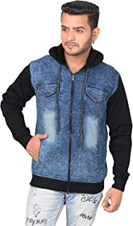 Finix Boy's Winter Warm Hooded Denim Jacket (Black)