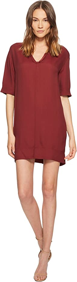 Manila Grace - Short Sleeve V-Neck Dress