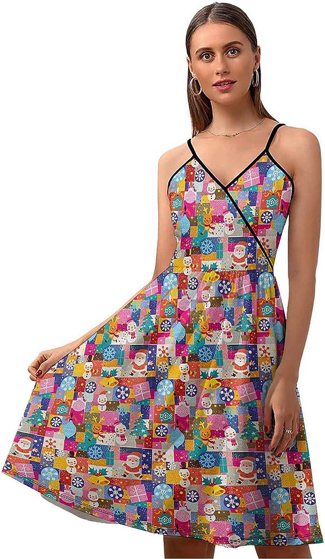 Christmas Maxi Dresses for Women Xmas Cartoon Pattern Genuine Inspired Luxury goods