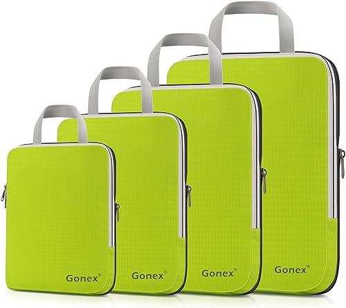 Gonex Organisateur Bagage Compressible de Valise Organiseur Sac Rangement Lot de 4
