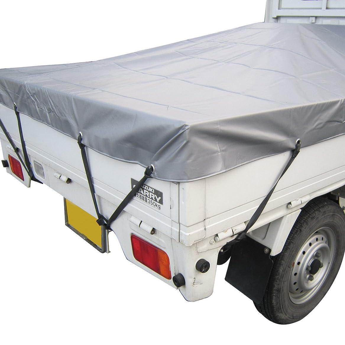 怒って例外戦術monomania 軽トラック 荷台用シート トラックシート 丈夫な防水仕様 軽トラシート シルバー 1.7m×2.1m 固定用ゴムバンド付