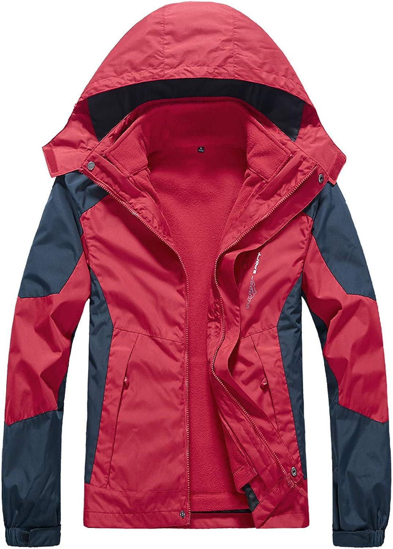 Huangse Men's Lightweight Zip Up Waterproof Anorak Windbreaker Jackets Active Hoodies with Pockets Running Hiking Sportswear