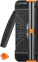LETIONペーパーカッターA4対応12枚裁断機安全軽量カッター(スペアカッターヘッド1個を含む)