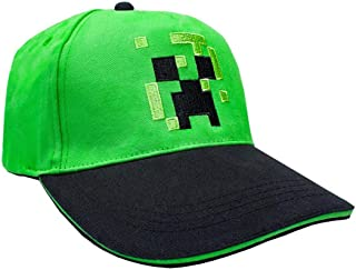 Minecraft Creeper Face Hat Boys/Youth Snapback Baseball Cap Green Hat