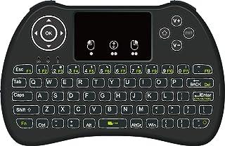 DroidBOX i9 2.4GHz Retroiluminación Recargable i8 inalámbrico Mini touchpad Teclado con ratón para DroidBOX T8-SPlus, T8 Mini, iMXQpro, Raspberry Pi, HTPC Dispositivos