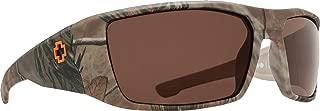 Dirk Polarized Wrap Sunglasses, Spy/Real Tree/Happy Bronze Polar, 64 mm