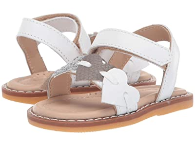 Elephantito Caro Cuore Sandal (Toddler) (White) Girls Shoes