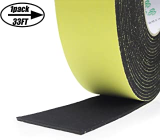 Foam Weather stripping Insulation Tape Adhesive-For door seal, Windows Waterproof, Plumbing, HVAC, Pipes, Cooling, Air Conditioning, Automotive Weather Strip, Craft Ta (1 Roll, 33 Ft- 1/8