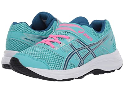 ASICS Kids Gel-Contend 5 (Toddler/Little Kid) (Ice Mint/Deep Sapphire) Girls Shoes