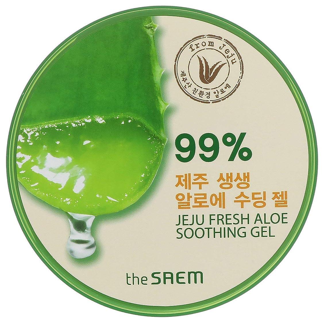 災難借りる同僚即日発送 【国内発送】ザセム アロエスーディングジェル99% 頭からつま先までしっとり The SAEM Jeju Fresh ALOE Soothing Gel 99%