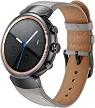 KARTICE Compatible with ASUS ZenWatch 3 Band,Vintage Genuine Leather Watch Band Strap Replacement Watchband WITT Metal Clasp Buckle (Grey 14mm)