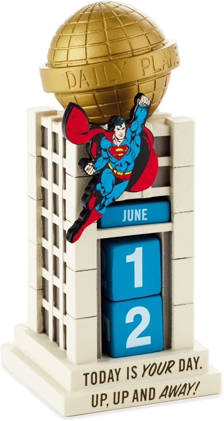 Safety and trust Superman Daily Planet safety Perpetual Calendars Calendar Superheroes;
