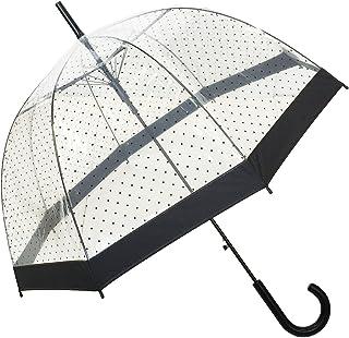d933c8b16c SMATI Paraguas largo transparente forma de campana  automático-estampado(Mujer)