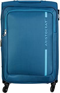 Aristocrat VIP Polyester Dasher 4W Strolly 78 Check-in Luggage (Blue)