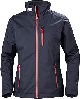Helly Hansen Women's Crew Midlayer Fleece Lined Waterproof Windproof Breathable Rain Coat Jacket