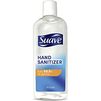 Suave Hand Sanitizer Kills 99.9% of Germs Alcohol Based Antibacterial Hand Sanitizer 8 oz