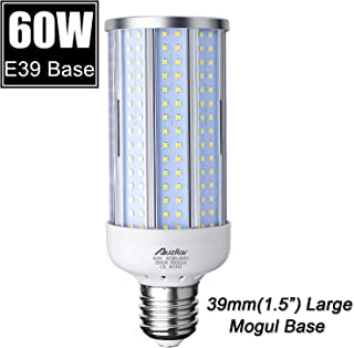 60W LED Corn Light Bulb (E39 Large Mogul Base) 6000Lm 6500K Cool White, for Metal Halide HID HPS Replacement Garage Parking Lot High Bay Warehouse Street Lamp Lighting, 85V-265V