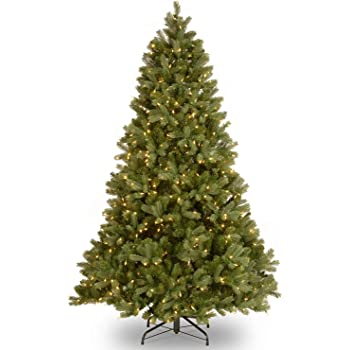 National Tree Company 'Feel Real' Pre-lit Artificial Christmas Tree | Includes Pre-strung White Lights and | Downswept Douglas Fir - 6.5 ft