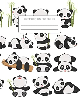 Composition Notebook: Panda Life. School Exercise Journal with Wide Ruled Paper -For Middle, Elementary, High School and C...