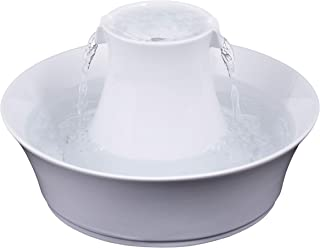 PetSafe Drinkwell Avalon Pet Water Fountain, Ceramic Drinking Fountain for Cats and Dogs, 70 oz. Water Capacity, White, 4....