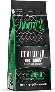 Immortal Coffee Roasted Whole Bean 1LB Bag (Ethiopian)