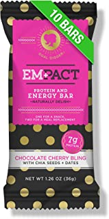 Empact Chocolate Cherry Bling Protein Bars: Naturally Delicious, Non-GMO Fitness Bars for Women (10 Count)