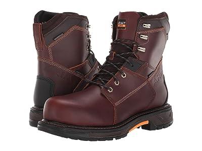 Ariat WorkHog(r) XT 8 Waterproof Carbon Toe (Russet Brown) Men