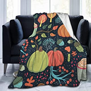 """Fleece Blanket 50"""" x 60""""-Beautiful Whimsical Autumn Home Flannel Fleece Soft Warm Plush Throw Blanket for Bed/Couch/Sofa/Office/Camping"""