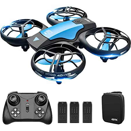4DRC V8 Mini Drone for Kids Toy, Hand Operated/Remote Control Quadcopter with 3 Batteries, Altitude Hold, Headless Mode, Throwing GO, 3D Flip and Auto Hover, for Beginners for Boys & Girls Gift