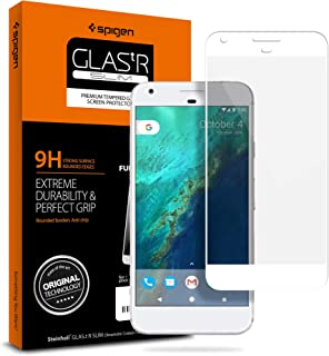 Spigen Tempered Glass Google Pixel Screen Protector [ Case Friendly ] [ Maximum Protection ] for Google Pixel (2016 Release) - White