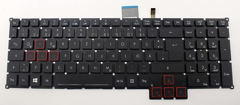 CHNASAWE New Black Backlit GR German Laptop Replacement Keyboard for Acer Predator G5-793 G9-591 G9-591R G9-592 G9-593 G9-791 G9-792 G9-793 GX-791 GX-792