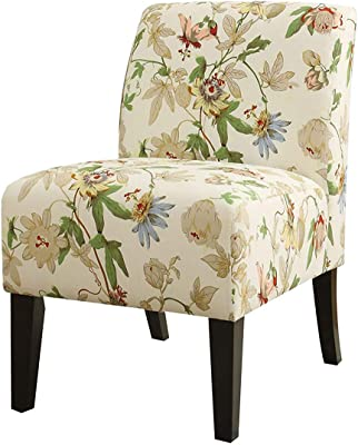 Amazon Com Monarch Gold Floral Traditional Accent Chair