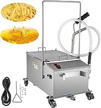 VEVOR 300W Mobile Fryer Filter 116LB Capacity Oil Filtration System 110V 60Hz Perfect for Supermarket Restaurant, 58L/15.32 Gallon, Sliver
