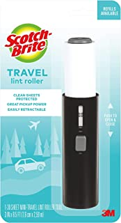 Scotch-Brite Mini Travel Lint Roller, Works Great On Pet Hair, 30 Sheets