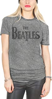 T Shirt Drop T Logo Official Womens Junior Fit Grey Burn Out