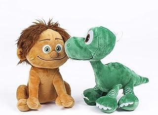 "The Good Dinosaur Plush Toy-Pack 2 Quality Super Soft - Spot The Child 8""/22CM + Arlo Baby 8""/22CM"