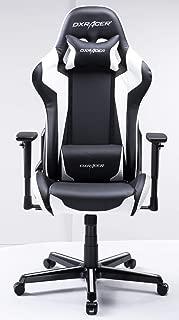 DXRacer USA Formula Series FH00 Gaming Chair Computer Chair Office Chair Ergonomic Design Swivel Tilt Recline Adjustable with Tilt Lock, Includes Headrest Pillow and Lumbar Cushion (White)