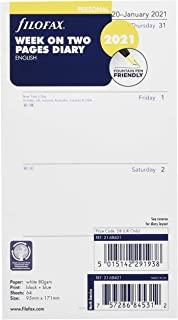 Filofax Personal Week on Two Pages English 2021 Diary