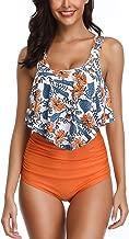 B2prity Women's High Waisted Bikini Bottoms Ruffled Tankini Swimsuits for Women