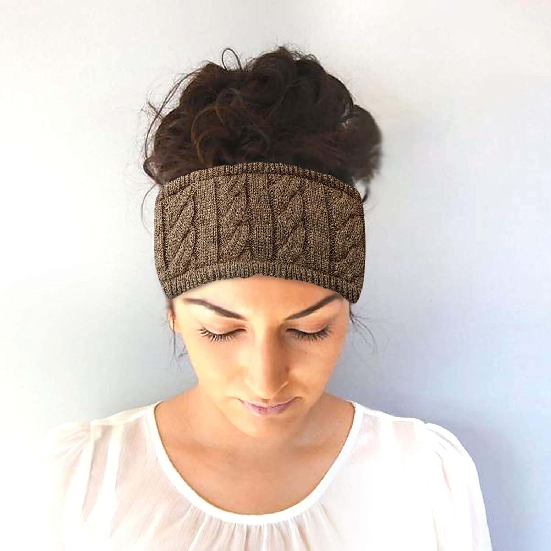 【USA In Stock】Ear Warmer Headband Women Winter Cable Knit Headband Twist Headband Ear Warmers Head Wrap