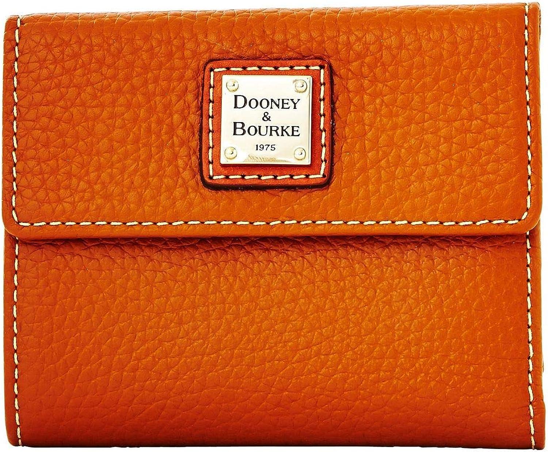 Dooney & Bourke Pebble Leather Small Flap Wallet Caramel