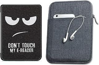 Capa Kindle Paperwhite 10ª geração à prova d'água Don't Touch Silicone - Função Liga/Desliga - Fechamento magnético + Bols...