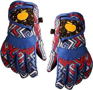 iEay Gants chauds d'hiver pour enfants de 4 à 9 ans - Gants polaire doux étanche ajustable - Gants Surface imperméable pou...