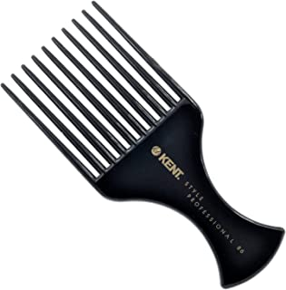 Kent SPC86 Style Professional Afro Pick/Comb for Teasing and Lifting - Hard Rubber, Anti-static, Unbreakable & Heat Resistant, Salon & Barber Quality