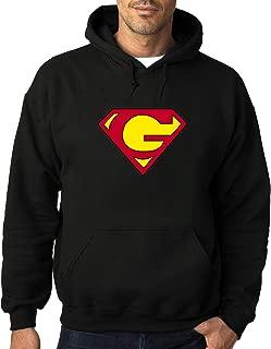 Men's G Super-man Logo Heavy Blend Adult Hoodie Sweatshirts Black hot