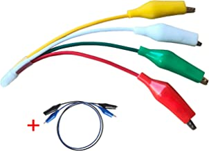 HVAC JUMPER TOOL 4 Way Alligator clips electrical test leads jumping wires - plus 2 double ended