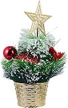 KESYOO Mini Christmas Tree Miniature Snowflake Sisal Trees Artificial Tiny Tree Table Decoration for Xmas Holiday Party Ho...
