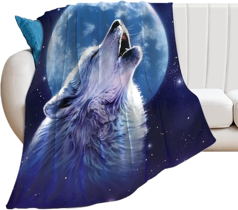 EFOEKY Wolf Fleece Blanket Fuzzy Cozy Lightweight P Soft Regular store Flannel Fashionable