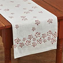 Park Designs 153-13B Rylie Table Runner Blue with Petals, 54-inch Length, Cotton Printed